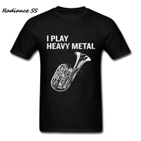 Summer Men T Shirts I Play Heavy Metal T Shirt Tuba Music High Quality Printing Short