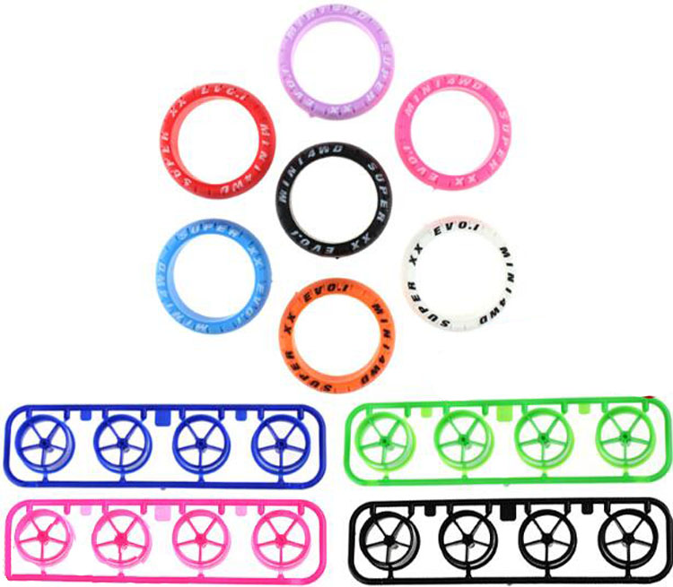 Yuenhoang 2Set Rubber <font><b>Tires</b></font> Large Diameter Plastic Colorful Wheel Five Stars <font><b>Tire</b></font> Type DIY Parts for <font><b>Tamiya</b></font> <font><b>Mini</b></font> <font><b>4WD</b></font> RC Car image
