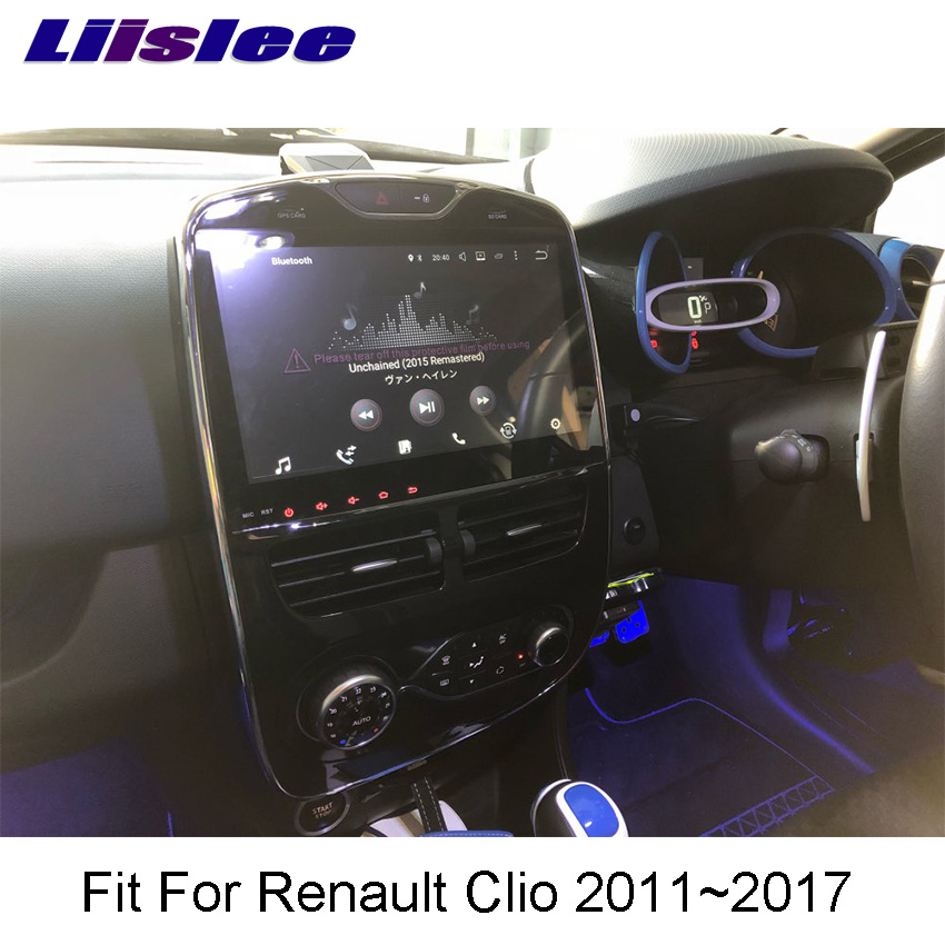 Liislee For Renault Clio 2011~2017 Android Car Navigation GPS HD Touch Screen Audio Video Radio Multimedia Player No CD DVD.