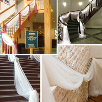 1 Silver 5M 1 35M Organza Sheer Organza Fabric For Wedding Backdrop Decorate