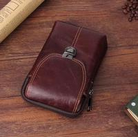 Belt Clip Man Genuine Cow Leather Mobile Phone Case Pouch For Wiko K Kool Jerry Freddy