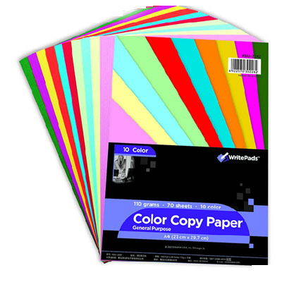 SALE A4 Color Paper 70 Sheets 110G 10 Colors Thicken Colored DIY Paper Origami Printing Paper Office School Supplies Gift