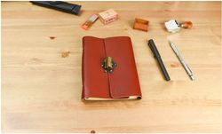 Rogge Brand Travel and lock notebook pure handmade and vintage style and jounrnal notebook RU BZ free shipping