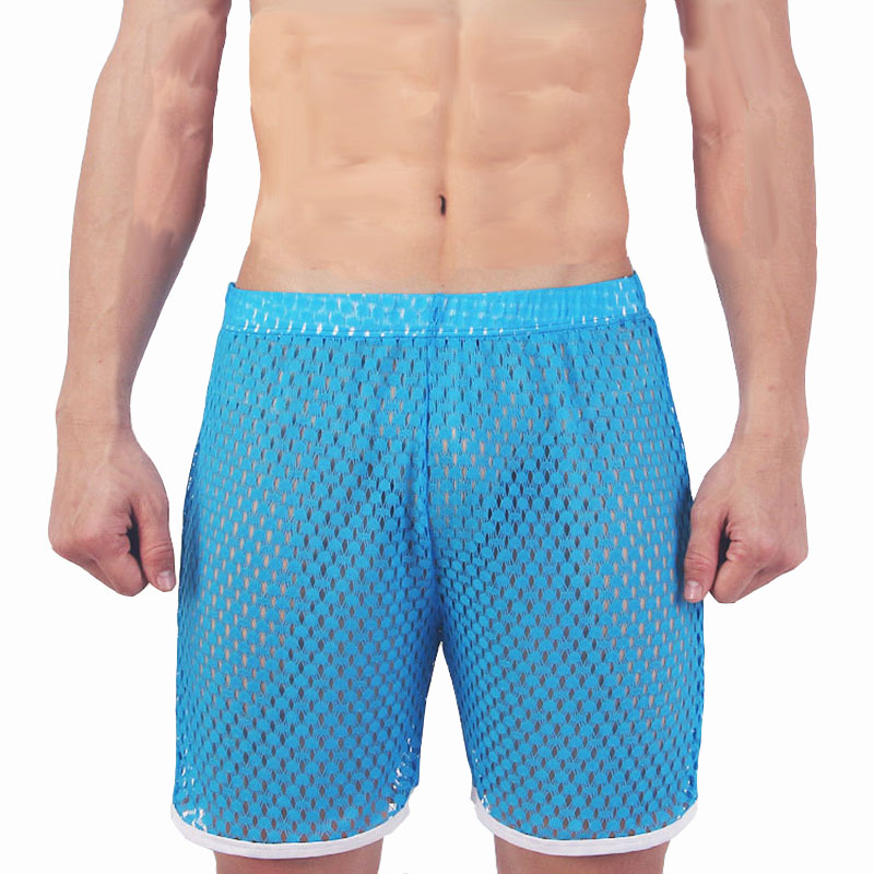 Men's Pajamas Pijama Hombre Men's Shorts See Through Mesh Sleepwear Underwear Men Honeycomb Breathable Pyjama Homme Sexy Men