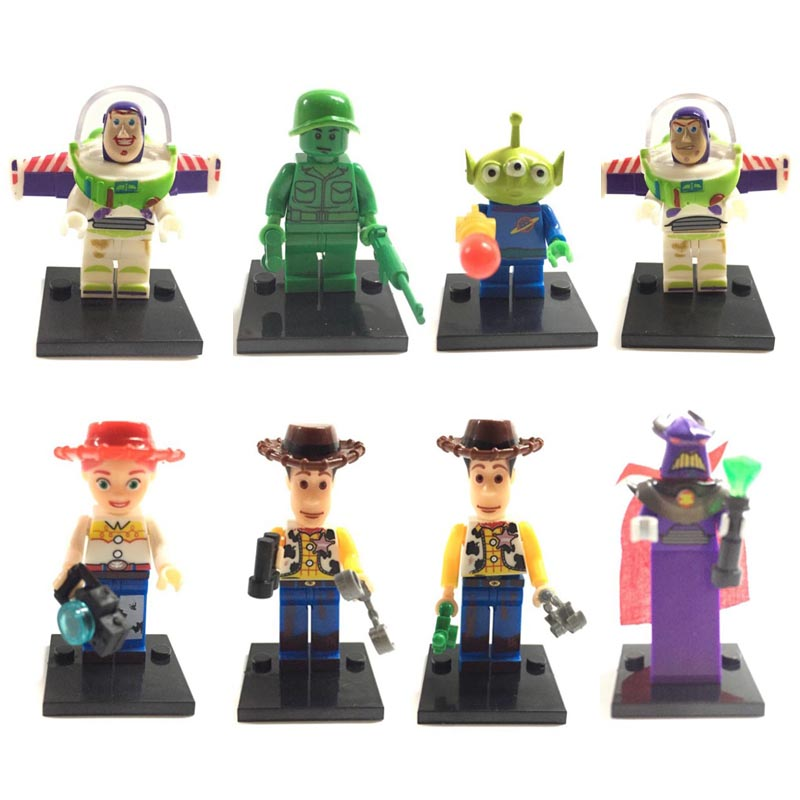 8pcs Small Toy Story figure Buzz Lightyear Andy Woody