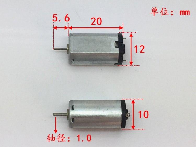 2PCS Mini N20 Motor DC 1.5V 3V 31000RPM High Speed Precious Metal Brush DC Motor