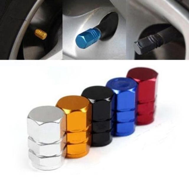 De alta calidad nuevo 4 unids/pack Theftproof de aluminio rueda de coche neumáticos válvulas de neumáticos de aire con tapas tapa hermética Venta caliente #920