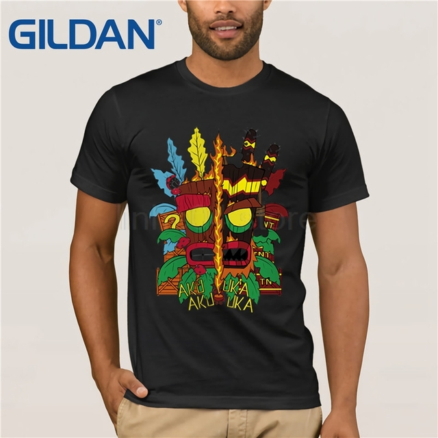 GILDAN Crash Bandicoot T-Shirts Men Personalized Custom Tee 2019 Summer  Short Sleeve Fitness T