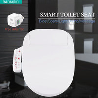 Smart Toilet Seat Washlet Elongated Electric Bidet Toilet Seat With Dryer And Deodorizer