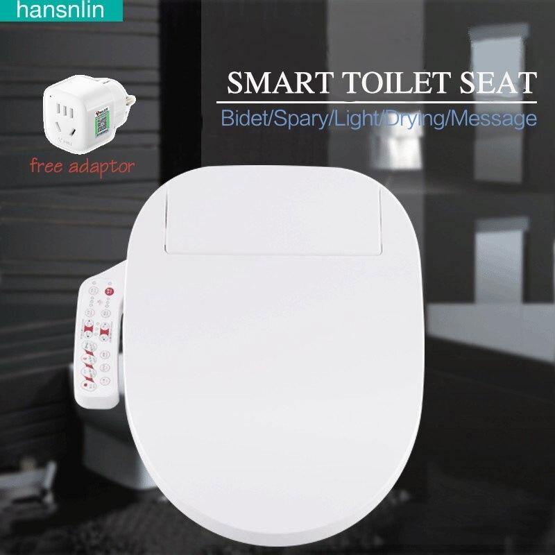 Smart toilet seat Washlet Elongated Electric Bidet cover intelligent bidet toilet seats heating sits led lightwc asiento inodoro