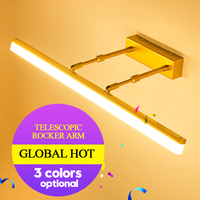 Modern Bathroom LED vanity Wall saconces Lamps fixture Black Silver Gold bedroom Indoor Stretchable Wall light Mirror Lights