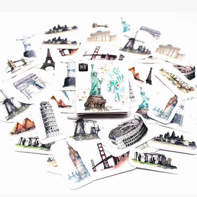 45 unids/pack cuaderno Kawaii lindo patrón de menta verde planificador Colegio suministros diario cuaderno de viajero