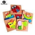 Montessori de madeira 3D Puzzle De Madeira Brinquedos Educativos Para Crianças kid Enigma Ensino Aids Set Puzzle Brinquedos de Inteligência