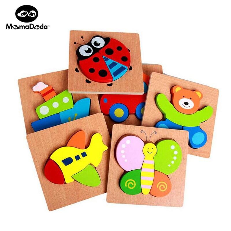 Houten 3D Puzzel Jigsaw Houten Montessori Educatief Speelgoed voor Kinderen Kinder Puzzel Leermiddelen Set Puzzel Intelligentie Speelgoed