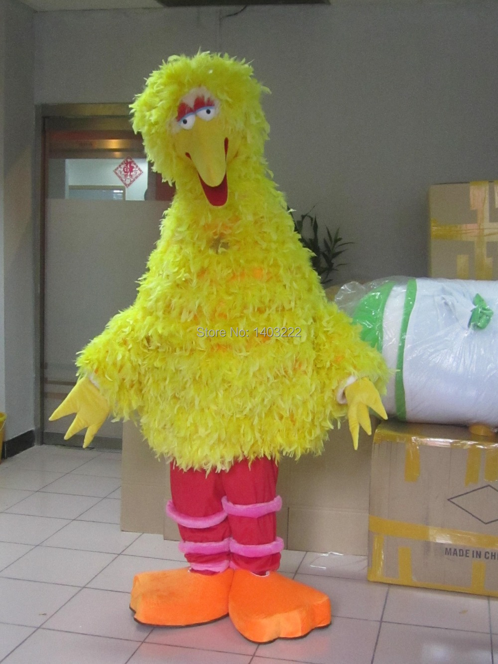 New Yellow Big Bird Costume Mascot Penghantaran percuma