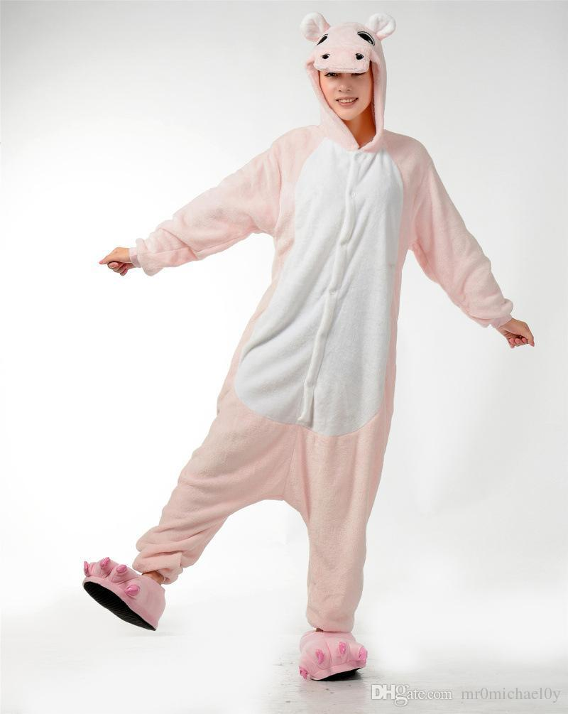 141e96e00eb7 Cute HIPPO style Adult Animal costumes Onesies Animal onesies Pajamas Party  Costumes Fleece pajamas Hooded Onesies-in Pajama Sets from Underwear ...