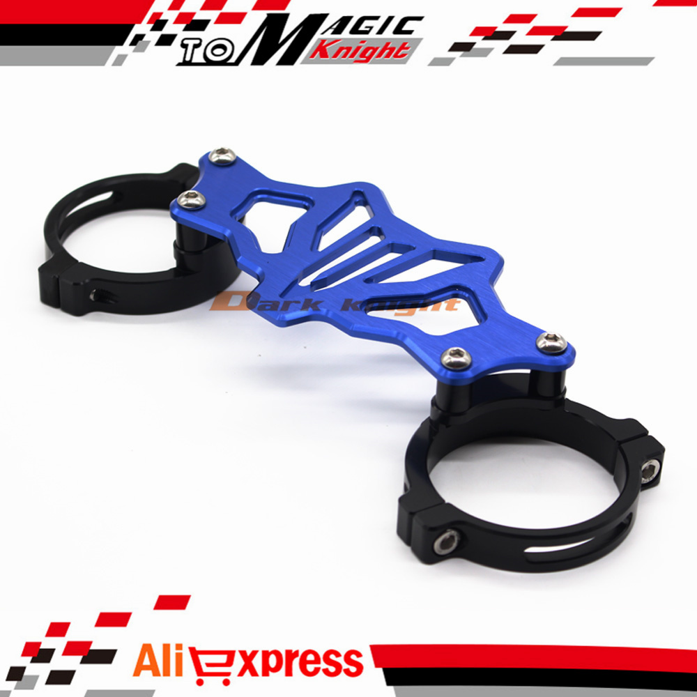 Подробнее о For YAMAHA MT07 FZ07 MT-07 FZ-07 2014-2016 Motorcycle BALANCE SHOCK FRONT FORK BRACE Blue Color for yamaha mt07 fz07 mt 07 fz 07 2014 2015 motorcycle cnc billet aluminum front fork cover caps free shipping