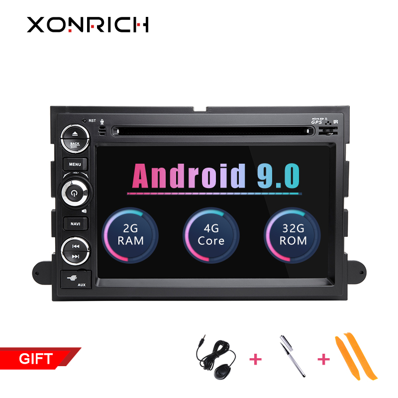 2 Din Android 9.0 Car DVD Player For <font><b>Ford</b></font> F150 F350 F450 F550 F250 Fusion Expedition Mustang <font><b>Explorer</b></font> Edge Screen Radio 2+32 GB image