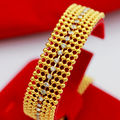 16mm wide delicate bracelet  yellow gold filled cz imitated diamond women fashion occident golden bracelet long 7.28""