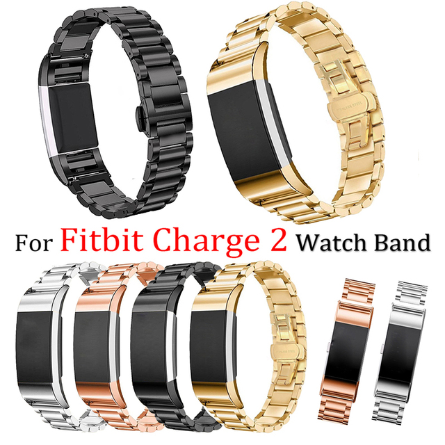 Newest Silver Stainless Steel Watchband For Fitbit charge 2 Strap smart Wristband bracelet Metal for Fitbit charge 2 Watch Band