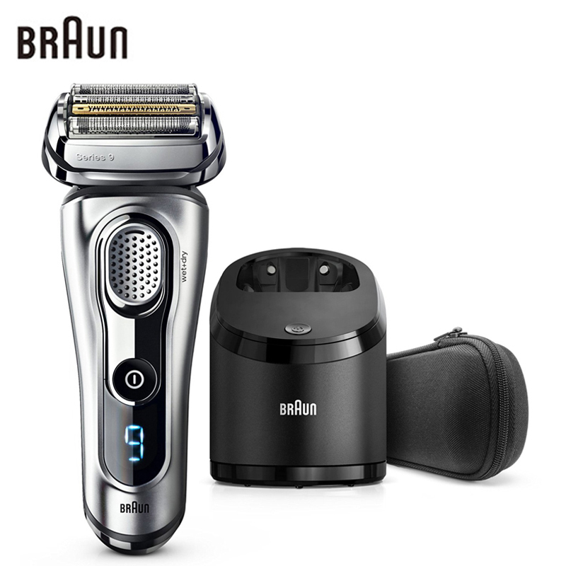Braun Electric Shaver 9290CC For Men Rechargeable Safety Razor Series 9 Reciprocating Shaving Machine Four Heads Straight Razor braun series 3 electric shaver 3080s electric razor blades shaving machine rechargeable electric shaver for men washable