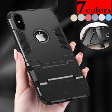 Shockproof Hybrid Armor Protective Case Stand For Sony XPeria XA E5 XZ XZ1 XA1 X compact Z5 Plus HTC M10 Desire 10 Pro Case(China)