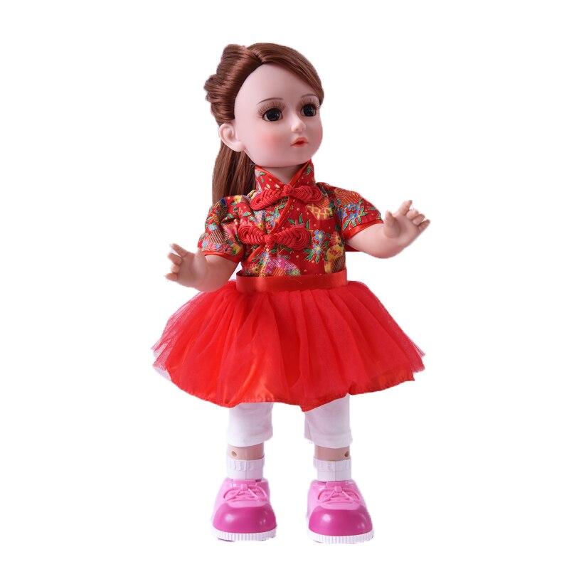 Принцесса Анна 16 ''42 см интерактивные Куклы говорить танцы русскоязычные ходьбы куклы Подарки для девочек