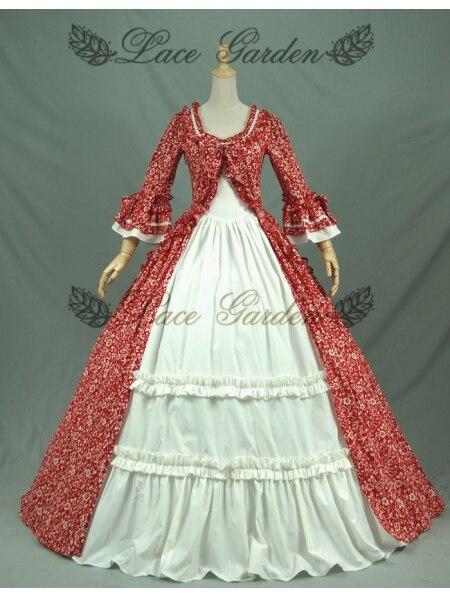 Красные Бальные платья в викторианском стиле платья для женщин - Цвет: Многоцветный