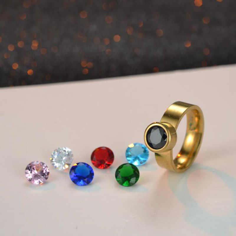 7 couleurs/ensemble bricolage anneaux pour femmes vis Rotation interrupteur pierre Hot anneaux première mondiale édition limitée Designer bague avec breloque RI0140