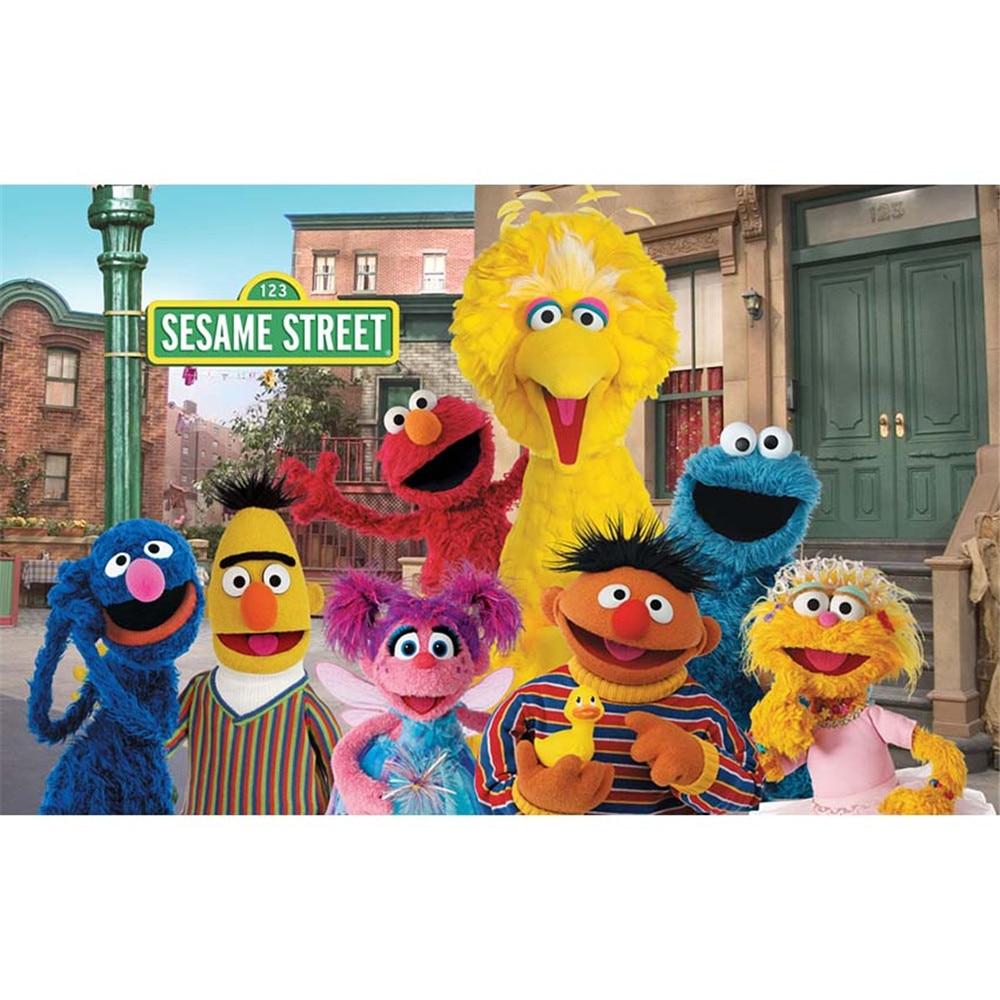 Elmo World Sesame Street Birthday Backdrop for Photography Baby Kids Children Cartoon Party Themed Photo Booth Background Custom стоимость