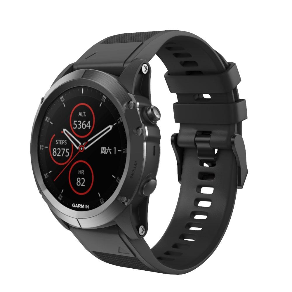 Soft Silicone Watchband for Garmin Fenix 5X Strap Quick Fit Plus 3/3HR Easy Watch Band