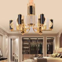 Modern Glass Lamp Gold Design Chandelier Living Room Kitchen Foyer Loft Light Fixtures Decor Home Lighting Lustre E27 110-220V