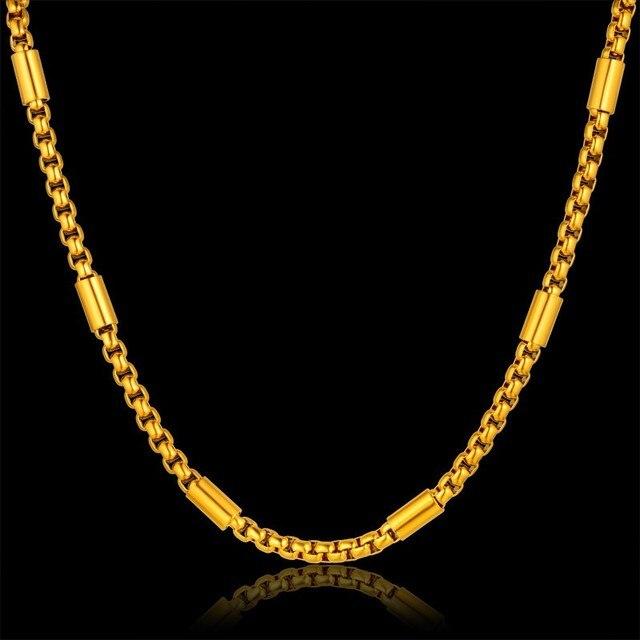 45d5788ed16a Cadena de oro hombre collar de la joyería de los hombres de cuello cadena  para los