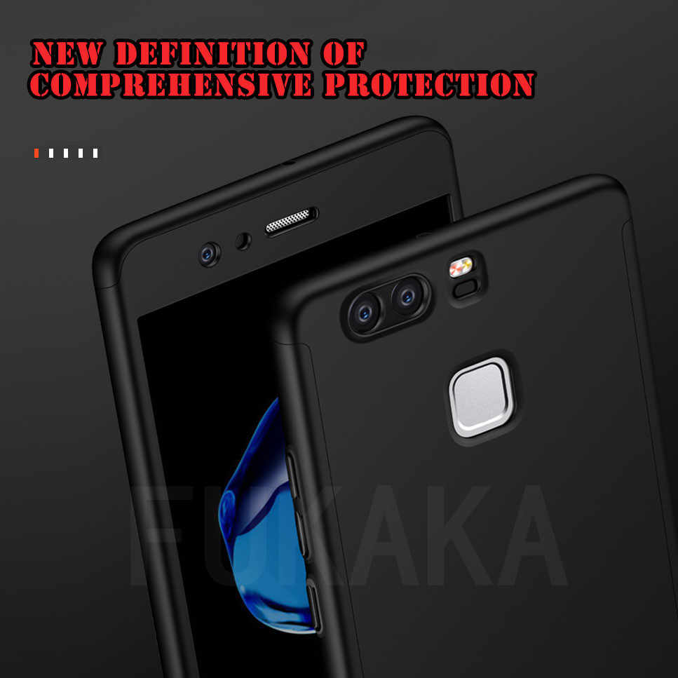 Luxury 360 Degree Full Cover For Huawei P20 P10 P9 P8 Lite Case For Huawei P20 Mate 20 Lite Pro P Samrt 2019 With Tempered Glass