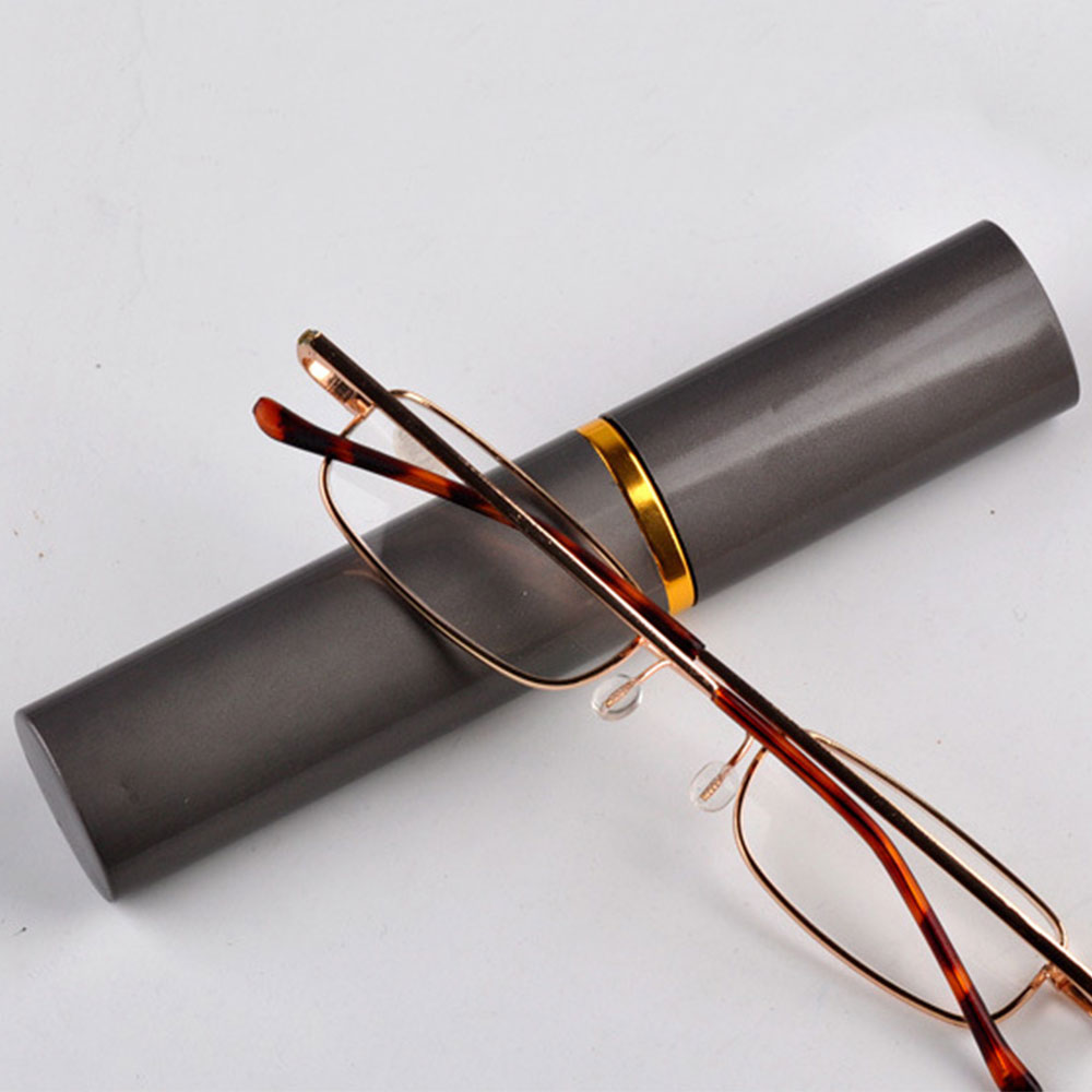 Exquisite Reading Glasses High-grade With Tube Case Socket Men Women Metal Eyeglasses Gifts 100 <font><b>150</b></font> <font><b>200</b></font> 250 300 350 DropShiping image
