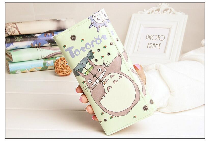Дамы кошелек Искусственная кожа корейский оригинальный Симпатичные цвет мультфильм Тоторо студент бумажник девушка длинный кошелек тенде...