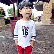 2016 Autumn Baby Boy Nine Points Sleeve T-shirt Cotton Children Boy Korean Casual Sweater