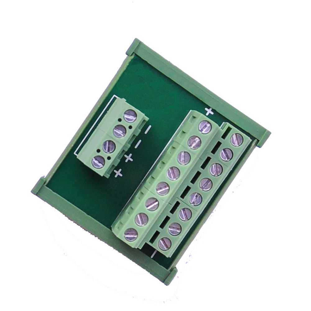 DC 24V Power Cable Distribution Splitter Terminal Block Breakout Board DIN Rail image