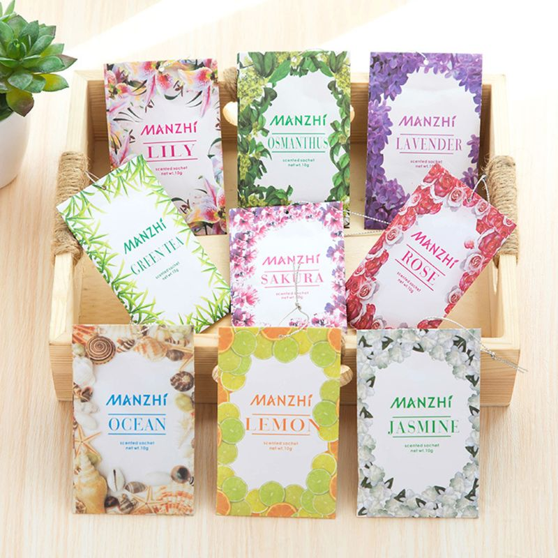 1 Bag Home Fragrance Sachets Natural Flower Tea Sea Wardrobe Aromatherapy Bag Mould & Pest Control Car Odorless Air Freshener