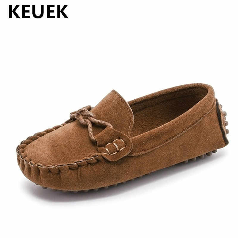 Kids Moccasin Loafers Shoes Boys Fashion Sneakers Children Massage Casual Shoes Kids Girls Flat Leather Shoes Size 21-35 02