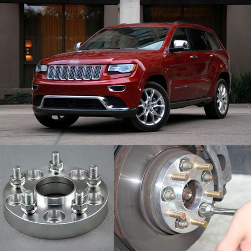Teeze 4pcs Billet 5 Lug 1/2 - 20 UNF Studs Wheel Spacers Adapters For Jeep Grand Cherokee 2004-2017 teeze 4pcs new billet 5 lug 14 1 5 studs wheel spacers adapters for audi q7 2006 2014