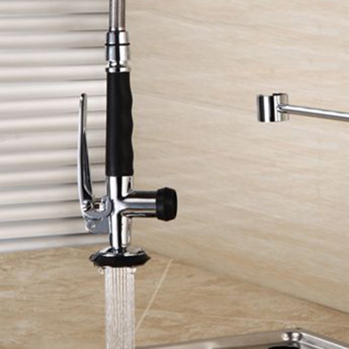 Brass Kitchen Pull Down Sprayer Head Washbasin Sink Single Handle Pull Out Spray Tap Lavatory Faucet 03-047