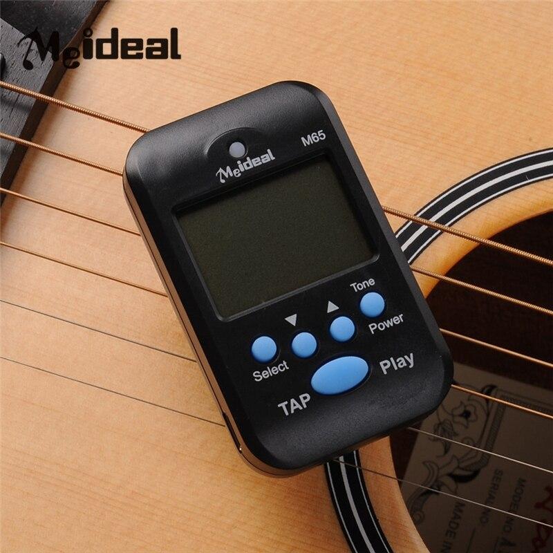 Romantisch Meideal M65 Mini Metronoom Draagbare Digital Beat Tempo Lcd Clip Op Voor Praktijk Vocale Muziek Gitaar Piano Metronomfor 4 Kleur