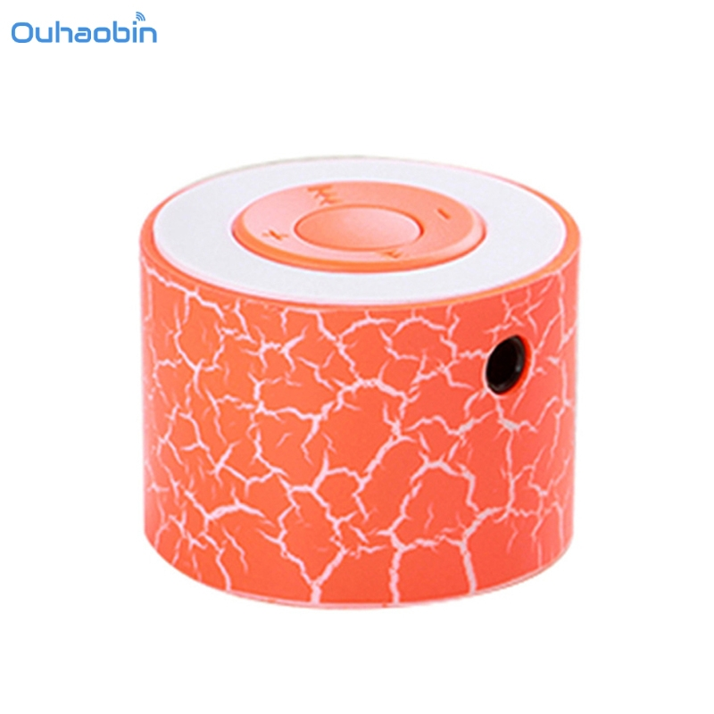Ouhaobin Portable Mini MP3 Speaker LED Night Light Speakers Support TF Card Mp3 Popular Colorful SD Card Wireless Speaker Nov27