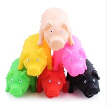 Novelty Pet Toy Screaming Vent Pig Toys Squeaker Chew Plaything Decrease Stress Prank Toy Color Random