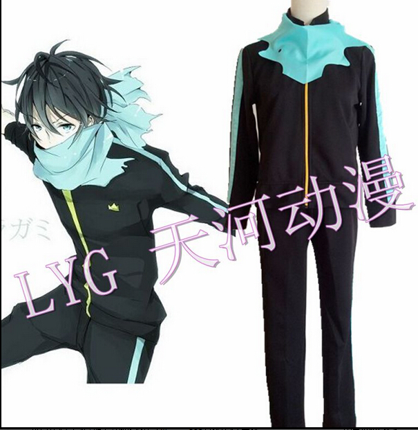 Noragami Cosplay Yato Unisex Casual Wear Sports Suit Costume top+pants