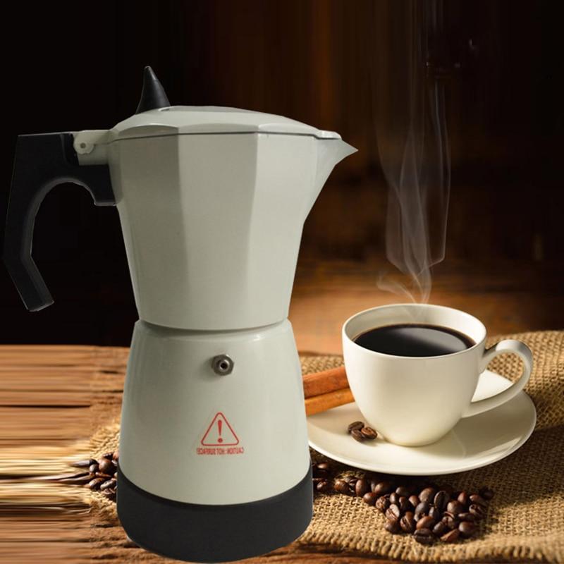 300ml Electric Coffee Maker Aluminum Moka Pot Mocha Coffee Maker Machine HY99 AP11