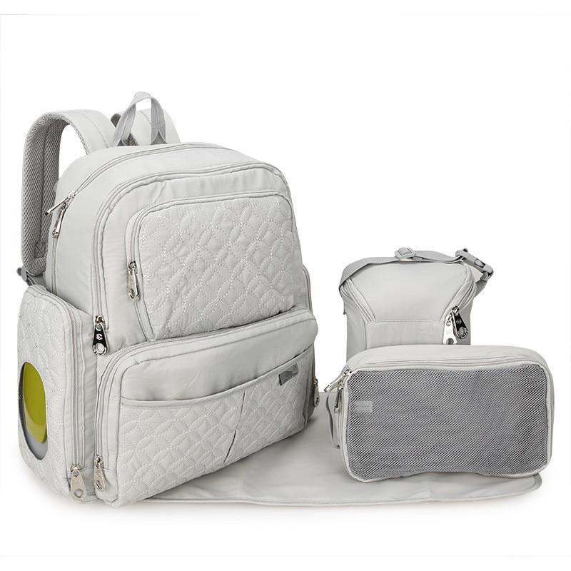 Grande Capacidade de Saco de Fraldas Do Bebê Mochila de Viagem Carrinho Organizador Saco Maternidade Mãe Múmia Bebê Fralda Mudando Saco de Enfermagem