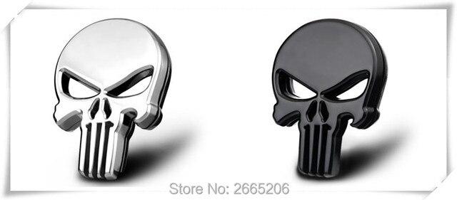 Ho Auto Styling Metall The Punisher Schädel Emblem Abzeichen Für