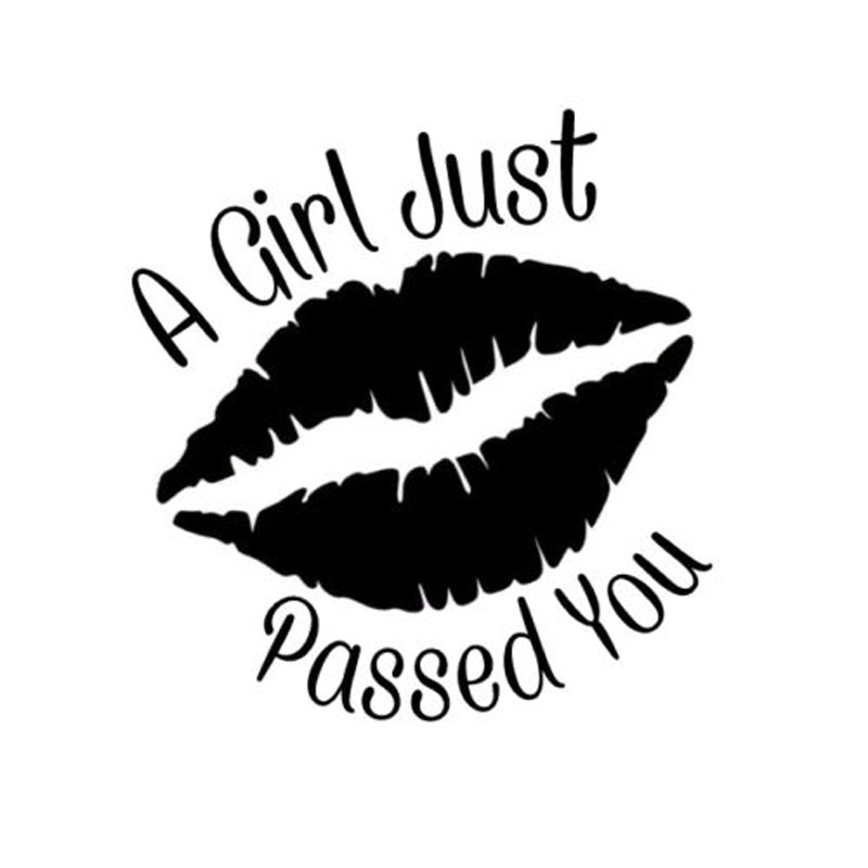 10.9CM*11.4CM Car Decal Sticker Lady's Girl Women Mouths Funny Car Stickers Car Accessories C8-0228